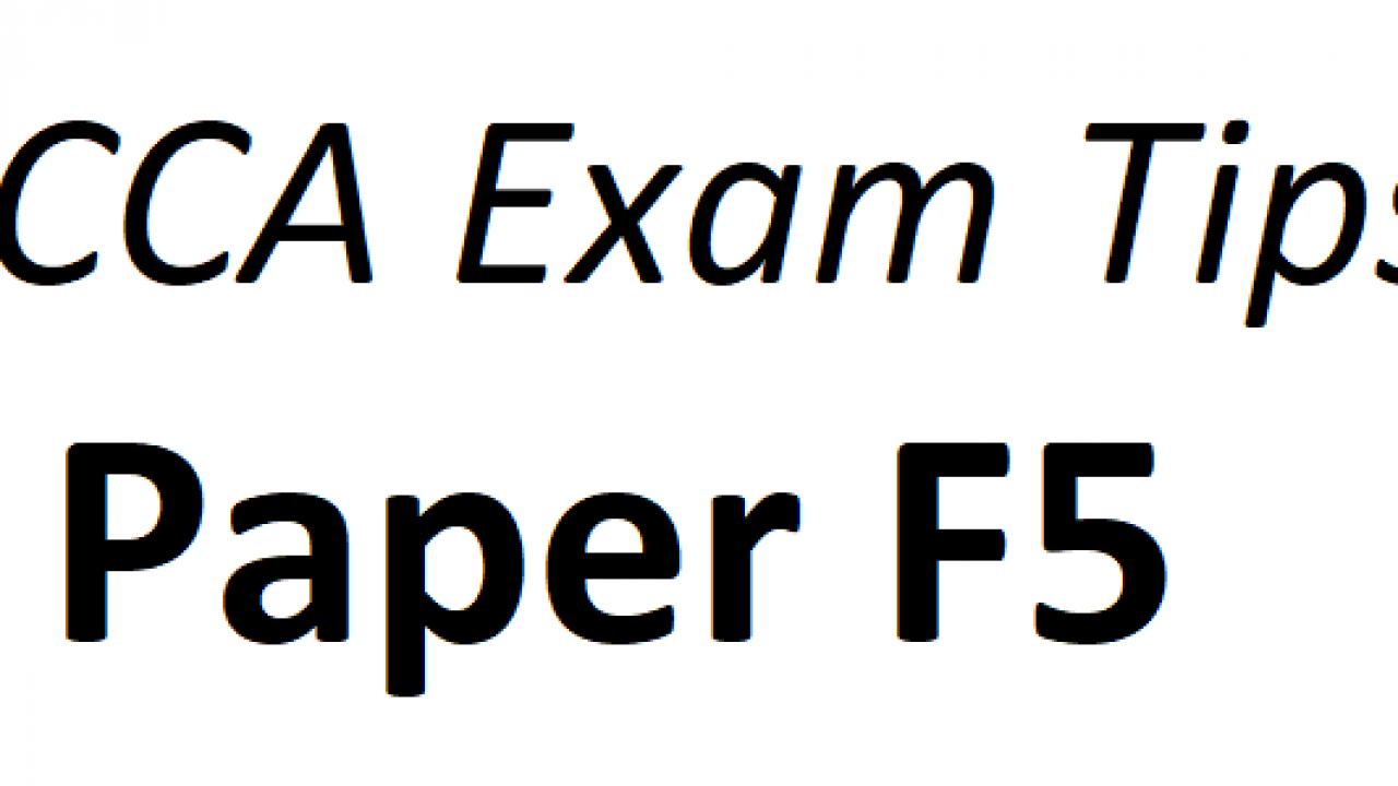 ACCA F5 Exam Tips June 2018 – ACCAExamTips net