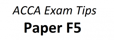 ACCA F5 Exam Tips June 2018