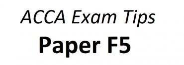 ACCA F5 Exam Tips June 2018