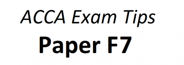ACCA F7 Exam Tips June 2018
