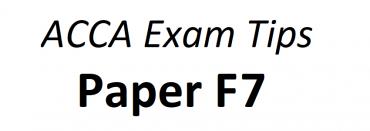 ACCA F7 Exam Tips June 2018
