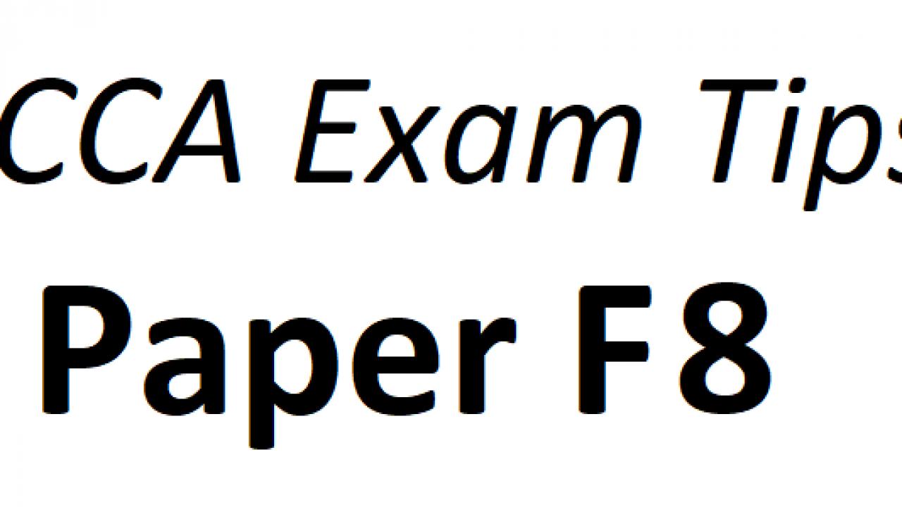 ACCA F8 Exam Tips June 2018 – ACCAExamTips net