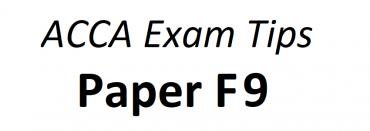 ACCA F9 Exam Tips June 2018