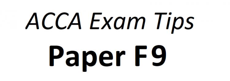 ACCA F9 Exam Tips June 2018 - ACCAExamTips net