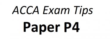 ACCA P4 Exam Tips June 2018