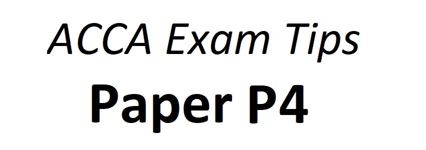 ACCA P4 Exam Tips June 2018 – ACCAExamTips net