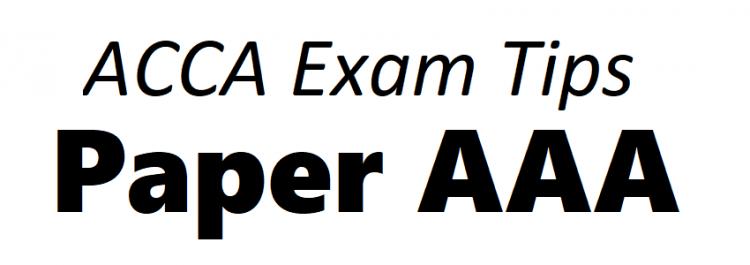 ACCA AAA Exam Tips September 2018 - ACCAExamTips net