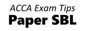 ACCA SBL Exam Tips December 2018